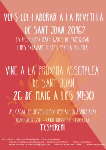 2016 festa sant joan 26 de maig 2016
